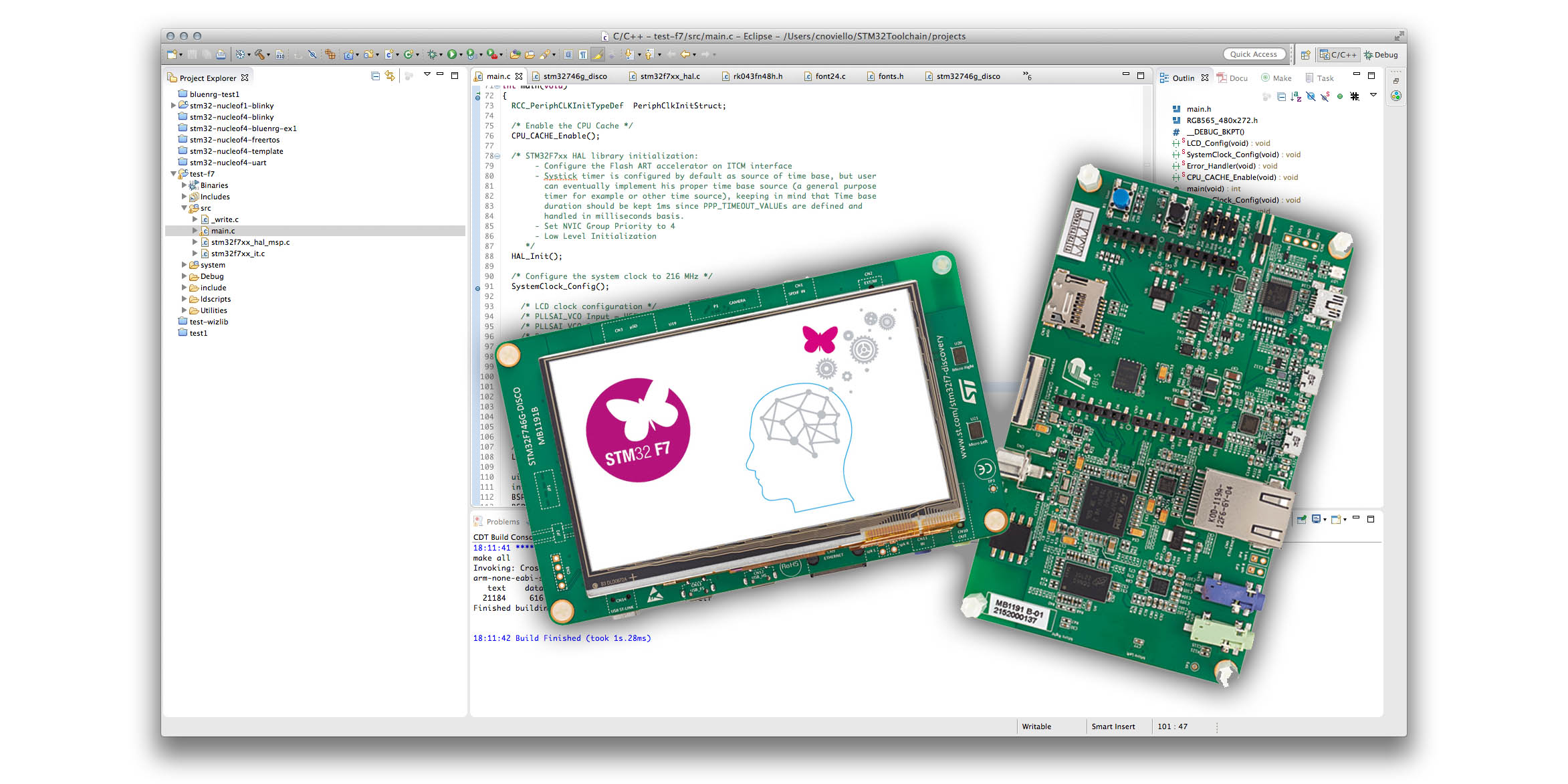 Getting started with STM32F746G-DISCO